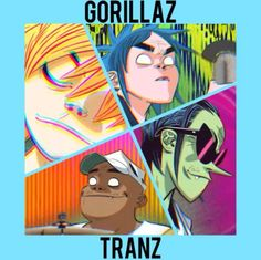 #Gorillaz Gorilla Band, List Of Bands, Sunshine In A Bag, Monkeys Band, Cartoon Monkey, Gorillaz Art, Damon Albarn, 17th Century Art, Jamie Hewlett