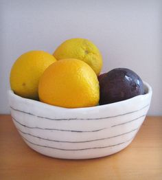 Small Porcelain Serving Bowl | This small, porcelain serving bowl is ideal for serving side d... | Serving Platters