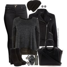 Plus Size - All Black Everything