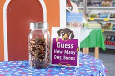Mind-boggling bones! Fill a clear jar with colorful dog bones for an excellent estimation game. Toolkit keyword: GUESSING GAME
