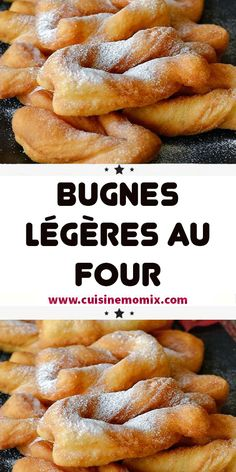 Light bugnes in the oven, hello everyone! We find ourselves today with a new recipe for Lyonnaise bugnes but this time baked which gives much less fatty bugnes ! Fast Healthy Meals, Healthy Crockpot Recipes, Beignets, Brownie Recipe Video, Baking Recipes, Dessert Recipes, Healthy Dinner Recipes, Love Food, Chicken Recipes