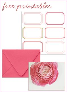 Free Printable Cards & AddressLabels - print on label paper and cut to make gift tags!!!!