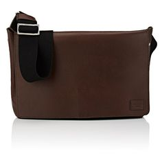 Jack Spade Men's Flap-Front Messenger Bag (2.055 BRL) ❤ liked on Polyvore featuring men's fashion, men's bags, men's messenger bags, brown, mens courier bag, mens brown leather messenger bag and mens messenger bags