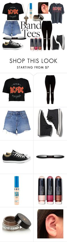 """Best Bands"" by kate-loves-fashion ❤ liked on Polyvore featuring Boohoo, New Look, T By Alexander Wang, Keds, Converse, L'Oréal Paris, Maybelline, Smashbox, Anastasia Beverly Hills and The Giving Keys"