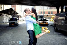 NYC Meatpacking engagement shoot