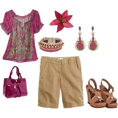 Fuchsia Summer, created by emily-irvine-roeder on Polyvore
