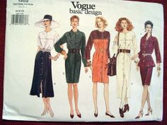 Vogue basic design 1994 sewing pattern 1469 misses by SewVintageCo, $11.00 Misses dres, top, tunic, and skirt pattern