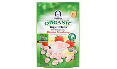 Best Solid Food Organic Baby Food and Formula: Gerber Organic Yogurt Melts Baby Food