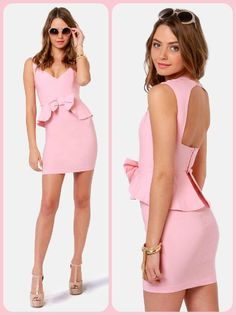 Portrait of a Lady Pink Peplum Dress from lulus.com Perfect to wear at the summer wedding I'm invited to!