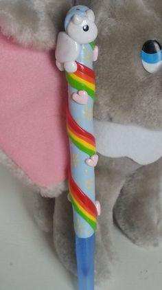 Kawaii Handmade Pen Polymer Clay Unicorn Themed by ourlittlezoo, $10.00