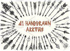 41 Hand drawn boho arrows by Bimbim on @creativemarket