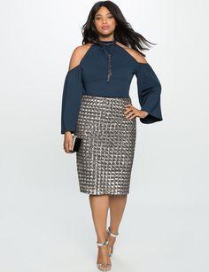 Cold Shoulder Halter Top | Women's Plus Size Tops | ELOQUII