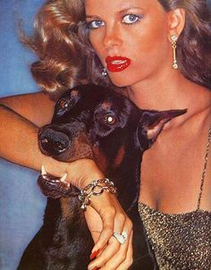 Fetching Is Your Dior,Christian Dior ad with Lisa Taylor, 1976 by Chris Von Wangenheim (1942 – 1981).