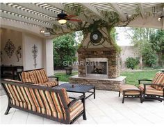 like this for a backyard patio and fireplace