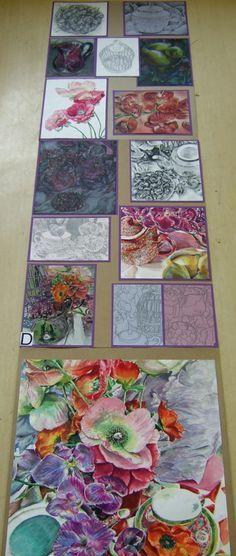 Drawing I final Exam Natural Forms Gcse, Natural Form Art, A Level Art Sketchbook, Sketchbook Layout, Sketchbook Ideas, Advanced Higher Art, Ap Studio Art, Guache, Expressive Art