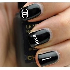 #CocoChanel inspired nail art