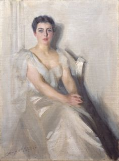 1899 portrait of Mrs. Grover Cleveland by Anders Zorn.