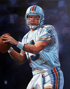 Miami Dolphins QB Dan Marino by Tony Harris