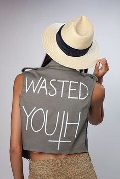 "Coco de Coeur ""Wasted Youth"" Army Vest"