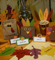 Many ideas for thanksgiving crafts could use these for our camping table at Thanksgiving