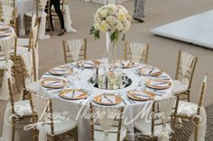 Gold, blush, romantic and soft wedding decor Fiesta Americana by Linens, Things and More Cabo