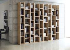 Bücherwand Bücherregal Bibliothek in 3 Farben Tara | eBay