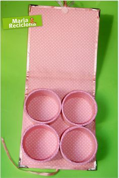 With empty duct tape rolls Cd Crafts, Diy Arts And Crafts, Handmade Crafts, Paper Crafts, Cardboard Box Crafts, Penny Rugs, Sewing Box, Diy Box, Craft Storage