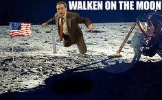 walken on the moon