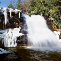 Deep Creek Lake, Maryland  ~We've been to Deep Creek several times now. The first trip together was to this waterfall in the middle of winter. Everything, including the trees and paths- were ice and snow. Very pretty.