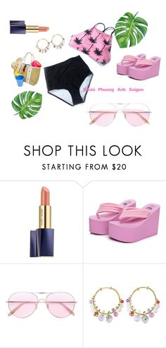 """""""TQ_hai manh beo dua hong"""" by pio-lala on Polyvore featuring Estée Lauder, Oliver Peoples and Alice Cicolini"""