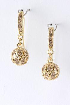a01bbb8cf77 Karen Walker. See more. Champagne Deco Crystal Earrings