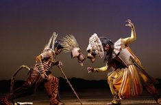 Lion King broadway production, costume design by Julie Taymor