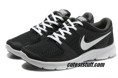 Mens Nike Flex Experience Run Black White Shoes $53.99