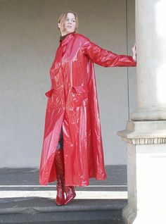 Red PVC Raincoat