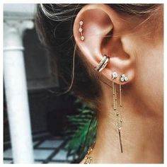 """339 mentions J'aime, 4 commentaires - Made of Jewelry [by Sophie] (@madeofjewelry) sur Instagram : """"@loganhollowelljewelry's ear is always on point """""""