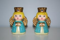 Vintage Turquoise Christmas Angel Choir Girl by theSaturdayShoppe, $12.00