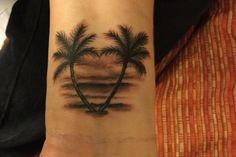 Best tree tattoo ankle heart Ideas - Thinks Tatto Beachy Tattoos, Sunset Tattoos, Ocean Tattoos, Dad Tattoos, Couple Tattoos, Trendy Tattoos, Life Tattoos, Body Art Tattoos, Small Tattoos