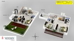#3D Floor Plan for Nester Project Earth Villament