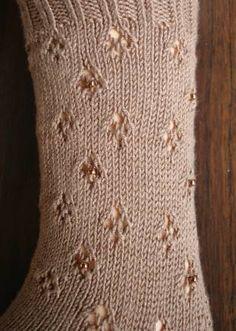 Panda Silk Beaded Eyelet Cuff Sock - free Panda Silk Sock pattern - Crystal Palace Yarns