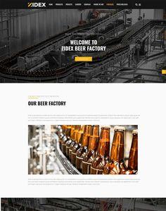 Zidex - Industrial & Factory WordPress Theme - ModelTheme Beer Factory, Wordpress Theme, Engineering, Industrial, Industrial Music, Technology