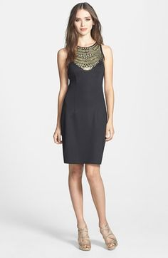 Alexia Admor Embellished Ponte Knit Sheath Dress available at #Nordstrom