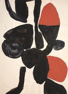Trevor Bell Nob Gouache on paper 76.2 × 55.9 cm