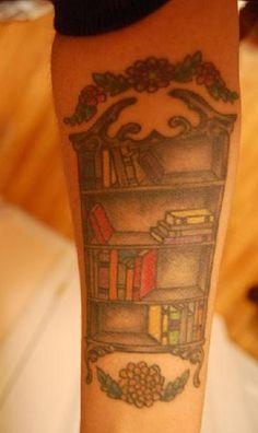 Book Shelf Tattoo