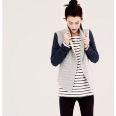 Lou & Grey Herringbone Sweatshirt Jacket