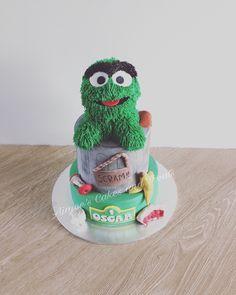 Oscar the grouch cake   www.aimeescakes.com.au