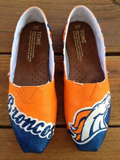 Custom TOMS or BOBS - Denver Broncos. $145.00, via Etsy. I need these