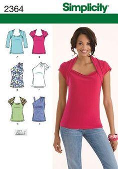 Simplicity Sewing Pattern 2364 tricot Patron pour hauts, 35, 5-40,6 R5 (18-20-22) Par la Simplicité Creative groupe Inc-Motifs