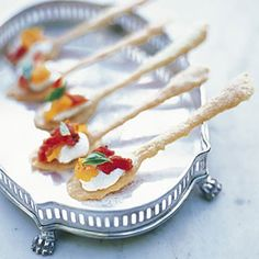 Edible spoons as part of the apetizer!