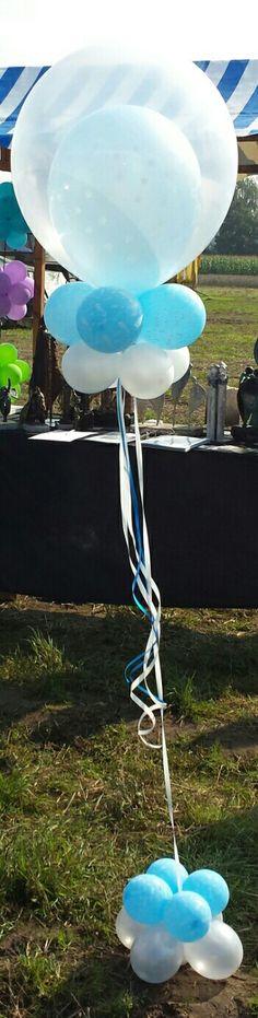 Helium ballon voor een geboorte of doop feest.