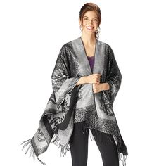 Fabulous Reversible Metallic Wrap Wrap yourself in luxury with this decadent x metallic-print shawl. Reversible print: metallic on one side matte on the other. One size. Hand wash, line dry. Avon Catalog, Catalog Online, Avon Fashion, Metallic Prints, Best Wear, Runway Models, Special Occasion Dresses, Autumn Fashion, Fashion Accessories